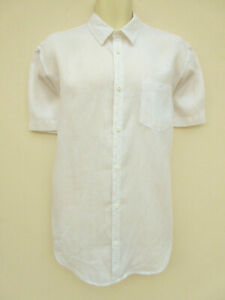 Angelo Litrico @ C&A - Mens Ivory Linen Short Sleeved Shirt - size L 41/42