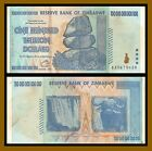 Zimbabwe 100 Trillion Dollars, 2008 P-91 AA Used Circulated (Cir)