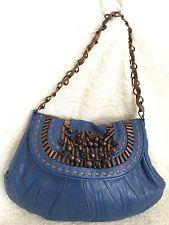 NWOT MORRISSEY Blue Leather Shoulder Bag / Handbag