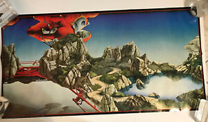 High Pool RARE YES 1979 VINTAGE ROGER DEAN POSTER Pace Printed Scotland NOS