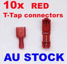 T-TAP Quick Wire Connectors Red 22-18 AWG Gauge Car Audio Terminals 10 PCS