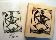 P46 Grim reaper skeleton rubber stamp WM