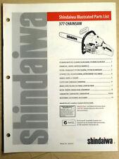 SHINDAIWA 377 CHAINSAW ILLUSTRATED PARTS LIST MANUAL MAY 1999
