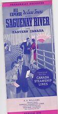1936 CRUISE SHIP BROCHURE - CANADA STEAMSHIP LINES - SAGUENAY RIVER