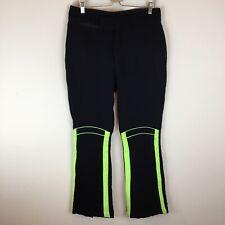 Vintage Men's Wool Schoeller Switzerland Ski Snow Pants Size 34 Black Neon
