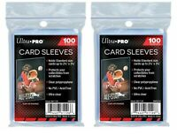 200 PACK - ULTRA-PRO CARD SLEEVES FOR STANDARD SIZE SPORTS AND TRADING CARDS