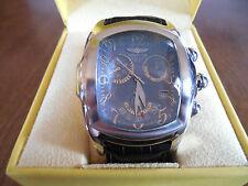 Men's Invicta Dragon Lupah Watch # 2445 Steel Blue Dial / Black Alligator Strap