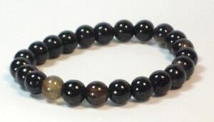Handmade Spirit Mineral Stone Bracelets - 8 mm Tibetan Black Agate