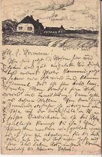 Karte mit Tuschezeichnung List auf Sylt. von Heinrich Köster. 1905