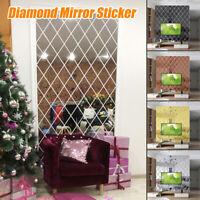 Diamond 3D Wall Art Acrylic Mirror Wall Sticker DIY Triangle Decals Art 3 Type