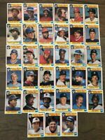1986 Topps Quaker Chewy Granola Bars 33 card Baseball set