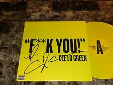 """CeeLo Green Signed F**k You Record Store Day 12"""" Vinyl Gnarls Barkley Goodie Mob"""