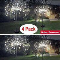 4pc 150 LED Solar Firework Lights Waterproof Outdoor Path Lawn Garden Decor Lamp