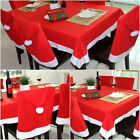 20X Cozy Santa Clause Red Hat Chair Back Cover Christmas Dinner Table Party