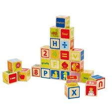 ABC Wooden Kids Building Blocks Early Learning Toys Toddler Children Skills