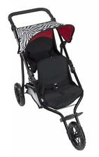 Deluxe Double Jogger Doll Twin Stroller Adjustable Handle High Quality...