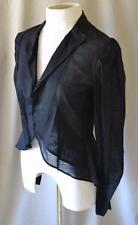 Yohji Yamamoto Black Cotton Sheer Jacket with Tails Size 1 NEW w/tag $1520