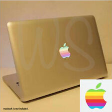 "2x Retro Apple Rainbow Logo Vinyl Sticker Decal for Macbook Pro 13"" 15"" 17"""