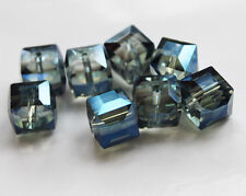 10pcs 10mm Faceted Square Cube Cut Glass Crystal Loose Spacer Charm Crafts Beads