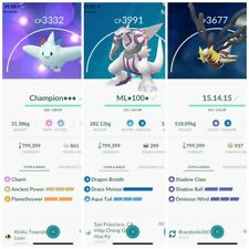 Pokemon Go Pokemon Master League - Maxed L40 - 3 moveset ATK - Top PvP -Describe