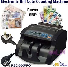 Bank Note Automatic Bill Currency Counter Money Pound Euro Cash Machine Count