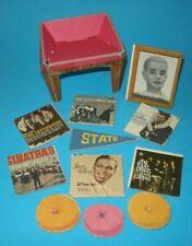1962 Barbie Dream House Accessories Chair Ken photo 6 Records 3 Pillows Pennant