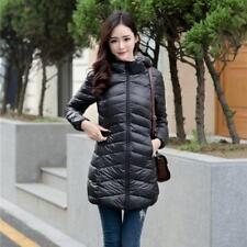 Women Ultra-light Down Jacket 90% Down Coat Long Parka Outwear Hooded Outerwear