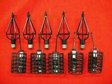 10 x Small Carp Fishing Method Feeders & Cage Feeders for line reel etc