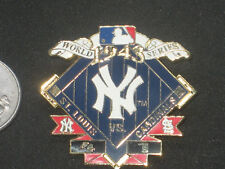 New York Yankees World Series Championship Pin 1943 vs St Louis Cardinals PSG