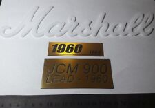 LOT Marshall logo and JCM 900 LEAD - 1960 and LEAD - 1960 Gold plastic