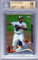"2014 Topps Chrome #33  ""Jonathan Schoop"" RC @LOOK@ BGS 10 ""Pristine"".Hot!!! xy3"