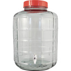 Wide Mouth Glass Carboy with Spigot - 6.8 gal - Cary Strap Included - Easy Clean