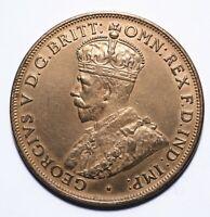 1917 Australia One 1 Penny - George V (High Grade) - Lot 476