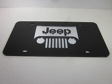 JEEP Acrlic Mirror License Plate Auto Tag nice