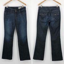 Gap Women's Jeans Bowery Curvy Boot Cut Leg Dark Wash Flap Pockets Size 8 Long