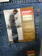 Wrangler Hero Relaxed Fit 34x34 Light Blue Denim Jeans Mens Nwt