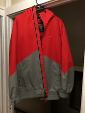 NIKE Storm Fit SNOWBOARD SKI Water Resistant Hooded JACKET Lined Zip Small Red