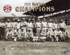 Boston Red Sox 1918 World Series Champions Authentic Team 8x10 Photo Ruth Hooper