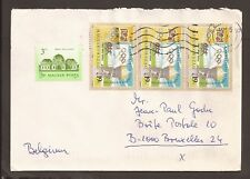 """Hungary 1995 cover. Posted to Brussels """"Szeged"""" cancellation"""