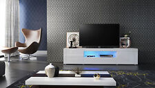 "White High Gloss Modern TV Stand Unit Media Entertainment Center ""Santiago"""