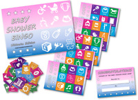 Baby Shower Party Games -  BABY SHOWER BINGO - 20 player - FREE POSTAGE