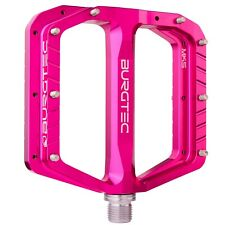 Burgtec Penthouse Flat Pedals MK5 Steel Boost Axles - Pink