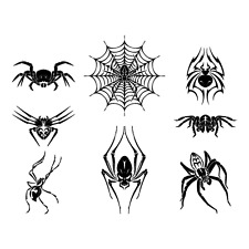 SPIDERS CLIPART-VECTOR CLIP ART-VINYL CUTTER PLOTTER IMAGES &T-SHIRT GRAPHICS CD