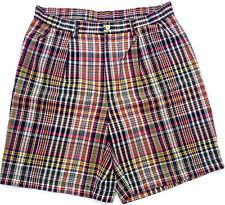 NEW - NWOT - RRP $199 - Mens Polo by Ralph Lauren Plaid khaki Chino Shorts