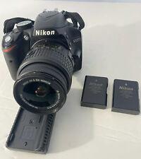Nikon D D3200 24.2MP Digital SLR Camera - Black Kit w/ AF-S DX ED VR G 18-55mm