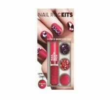"""Nail Rock Crystals Pink/Red Kit - 6 Piece Manicure Bar"