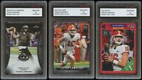 TREVOR LAWRENCE 2021 PRO SET/LEAF/iCARD 1ST GRADED 10 ROOKIE CARD Ultimate 3 LOT