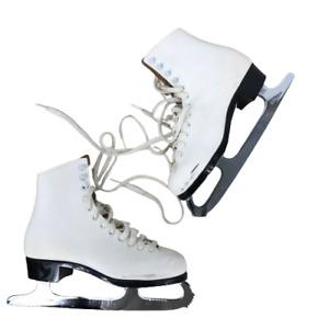 Lange Womens ICM Astra Ice Skating Blades Figure Skate Winter Sports White 7