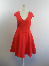 River Island Red Structured Cap Sleeve Skater Dress Size UK 10 Box46 44 R