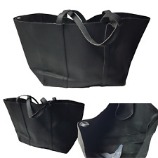 LADIES TOTE HANDBAG,EXTRA LARGE SHOPPER, Black,Great Overnight, Gym, Baby Bag
